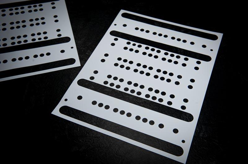 technische Schablone aus Offsetpapier